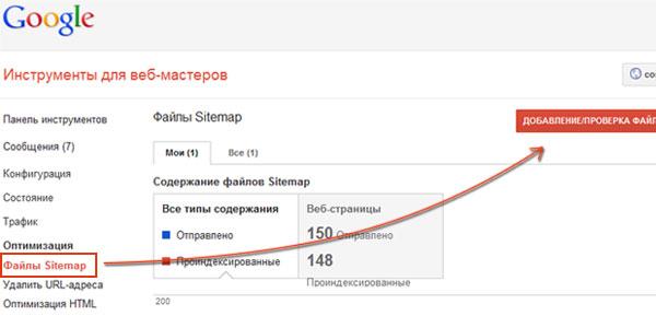 Карта сайта Для Google