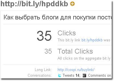 Статистика bit.ly