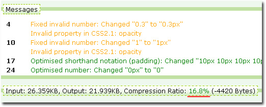 Сжатие CSS файла