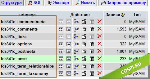 Готовая таблица